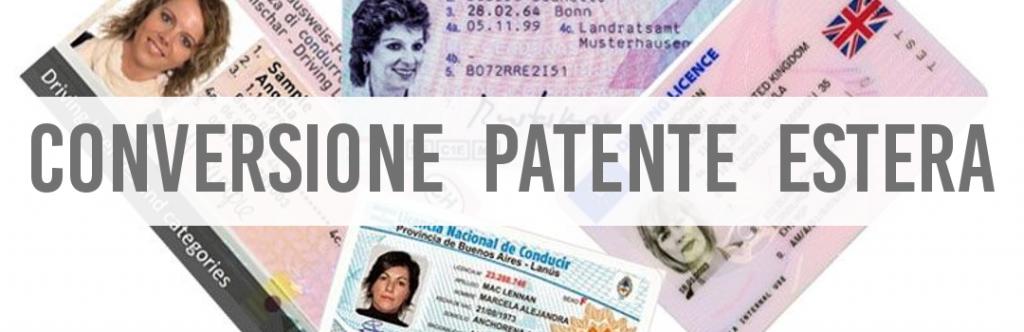 conversione patente estera